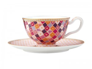 Rose - Footed Cup + Saucer