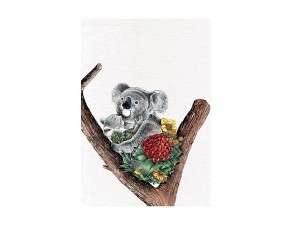 Koala Cuddle - Tea Towel