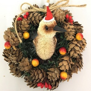 Pinecone Wreath - Kookaburra