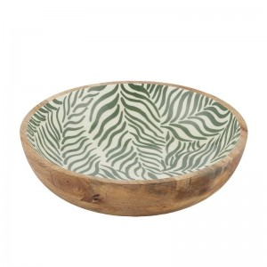 Eden Wood + Resin Bowl - Green + Natural