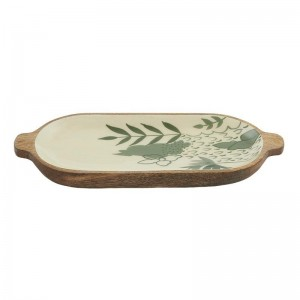 Edi Wood + Resin Platter Green + Natural